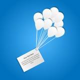 与气球的看板卡 免版税库存图片