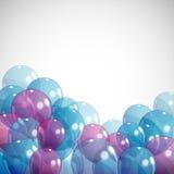 与气球的背景 图库摄影