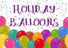 与气球的节假日背景 皇族释放例证