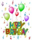 与气球2的生日快乐 皇族释放例证