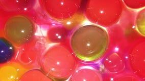 与氢结合的胶凝体小珠或与氢结合的泡影 库存照片