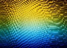 与水下落的蓝色黄绿色纹理 免版税库存图片