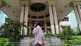 与水山的政府医院入口在金奈,印度 股票视频