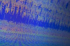 与水平线在低分辨率的室外显示的映象点背景的抽象腐败的计算机数字文件 库存照片
