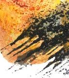 与水彩纹理的详细的背景 皇族释放例证