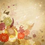 与水彩花束的花卉背景 库存图片