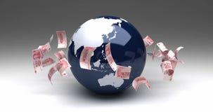 与汉语元的全球企业 库存例证