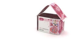 与汉语元的房地产 库存例证