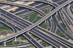 与汽车的交通连接点 免版税图库摄影