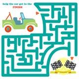 与汽车的滑稽的迷宫 皇族释放例证