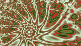 与沙尘暴的眼睛的作用的一个打旋的火焰分数维漩涡 库存图片