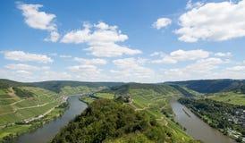 与河摩泽尔的德国横向 库存照片