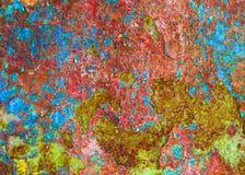 与油漆污点的多彩多姿的纹理  库存照片