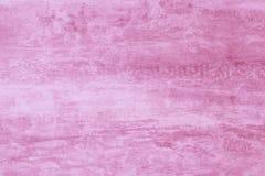 与油漆污点的抽象桃红色水彩样式 纹理,轻的背景 软的水彩画,桃红色水彩图画 淡色罐头 免版税库存图片
