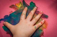 与油漆的乐趣 免版税库存照片
