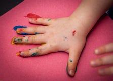 与油漆的乐趣 库存照片