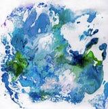 与油漆的明亮的美好的被绘的纹理 图库摄影