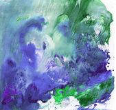 与油漆的明亮的美好的被绘的纹理 免版税库存图片