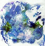 与油漆的明亮的美好的被绘的纹理 库存照片