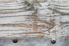 与油漆的老木纹理 免版税库存照片