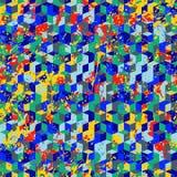 与油漆飞溅和泼溅物的抽象动态techno背景 库存例证