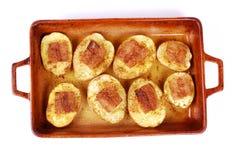 与油脂的土豆 免版税库存图片
