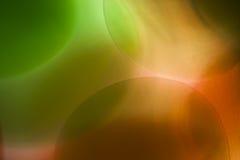 与泡影、果冻球和光的抽象水下的比赛 免版税图库摄影