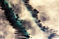 与泡影和光的抽象水下的构成 免版税图库摄影