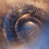 与泡影和光的抽象水下的比赛 免版税图库摄影