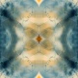 与泡影和光的抽象水下的比赛 免版税库存照片
