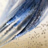 与泡影的五颜六色的水下的蒲公英种子 库存图片