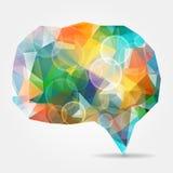 与泡影的抽象五颜六色的几何讲话泡影和trian 向量例证
