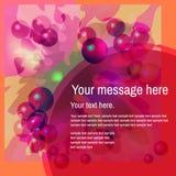 与泡影的抽象五颜六色的背景 免版税图库摄影
