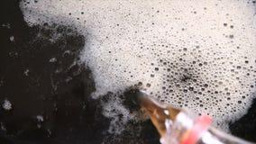 与泡影的碳酸化合的饮料,特写镜头 影视素材