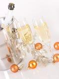 与泡影的香宾玻璃 免版税库存照片