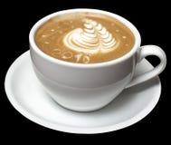 与泡沫的咖啡在白色杯子 免版税库存图片