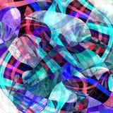 与波浪元素的抽象多彩多姿的背景 库存例证