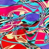 与波浪元素的抽象多彩多姿的背景 向量例证