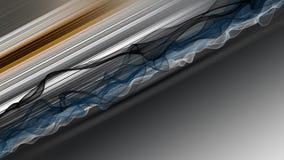 与波浪对象的意想不到的动画在行动和颜色改变的条纹,圈HD 1080p 皇族释放例证