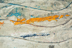 与波浪样式的难看的东西木纹理 库存照片