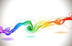 与波浪的抽象五颜六色的背景 库存图片