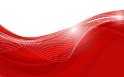与波浪的抽象红色背景 也corel凹道例证向量 免版税库存照片