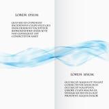 与波浪的抽象蓝色传染媒介背景 免版税库存图片