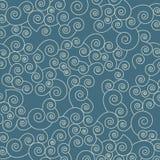 与波浪的日本无缝的样式。抽象backgr 免版税库存照片