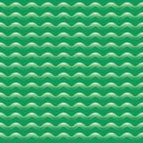 与波浪的绿色抽象样式 库存图片