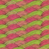 与波浪纹理的无缝的样式 免版税库存照片