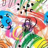 与波浪线的抽象几何样式 backgrounded的乱画 r 皇族释放例证