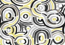 与波浪线的抽象几何样式 backgrounded的乱画 r 向量例证