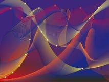 与波浪线的抽象背景 图库摄影