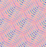 与波浪线的规则Z形图案变粉红色紫罗兰色浅兰的紫色 免版税库存照片